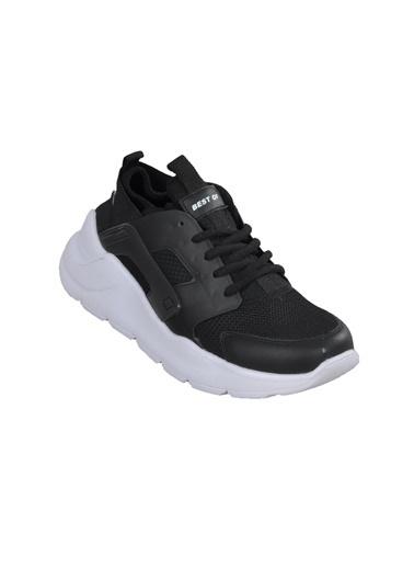 Bestof Bestof 048 Siyah-Siyah Unisex Spor Ayakkabı Siyah